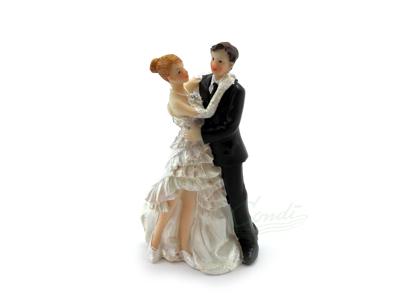 Brudepar kagefigur 11,5cm