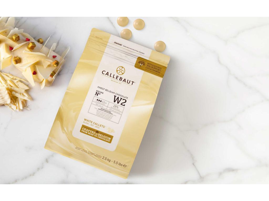 Hvid Chokolade W2 29,5 % i knapper á 2,5 kg