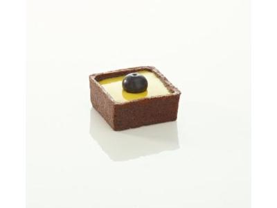 Mørdejsskal smør TRENDY firk 3,5 cm choko