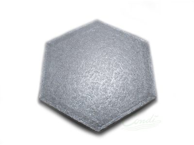 Kageunderlag 25 cm sekskantet