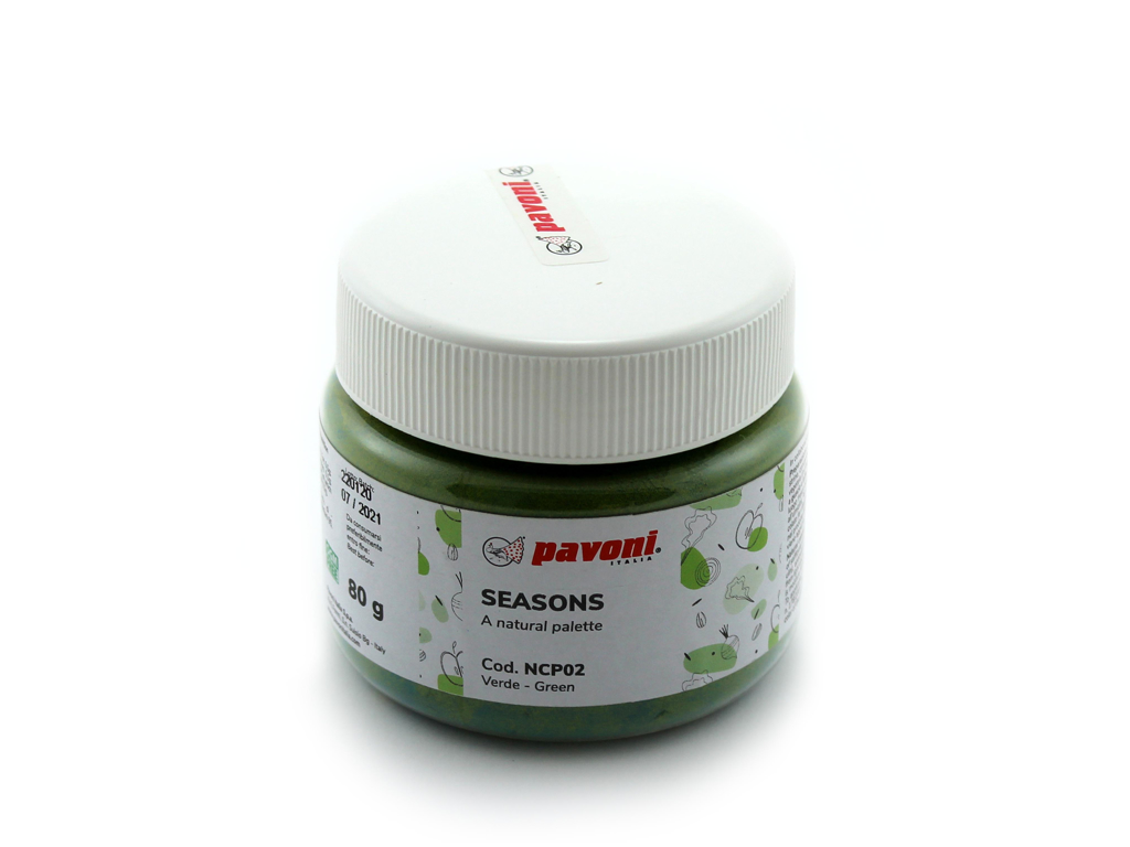 Farvepulver grøn 80 g naturlig