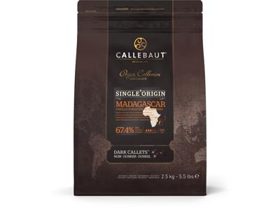 Callebaut Mørk Chokolade Madagascar 2,5 kg