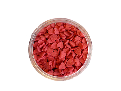 Sukkerhjerter røde á 600 gr