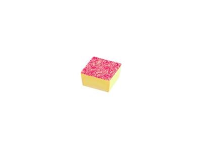Chokoladefolie Blomster rød/hvid