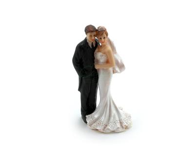 Brudepar kagefigur 12cm