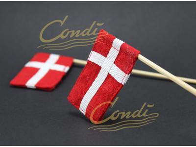 Flag stof, dansk på pind 2 stk.