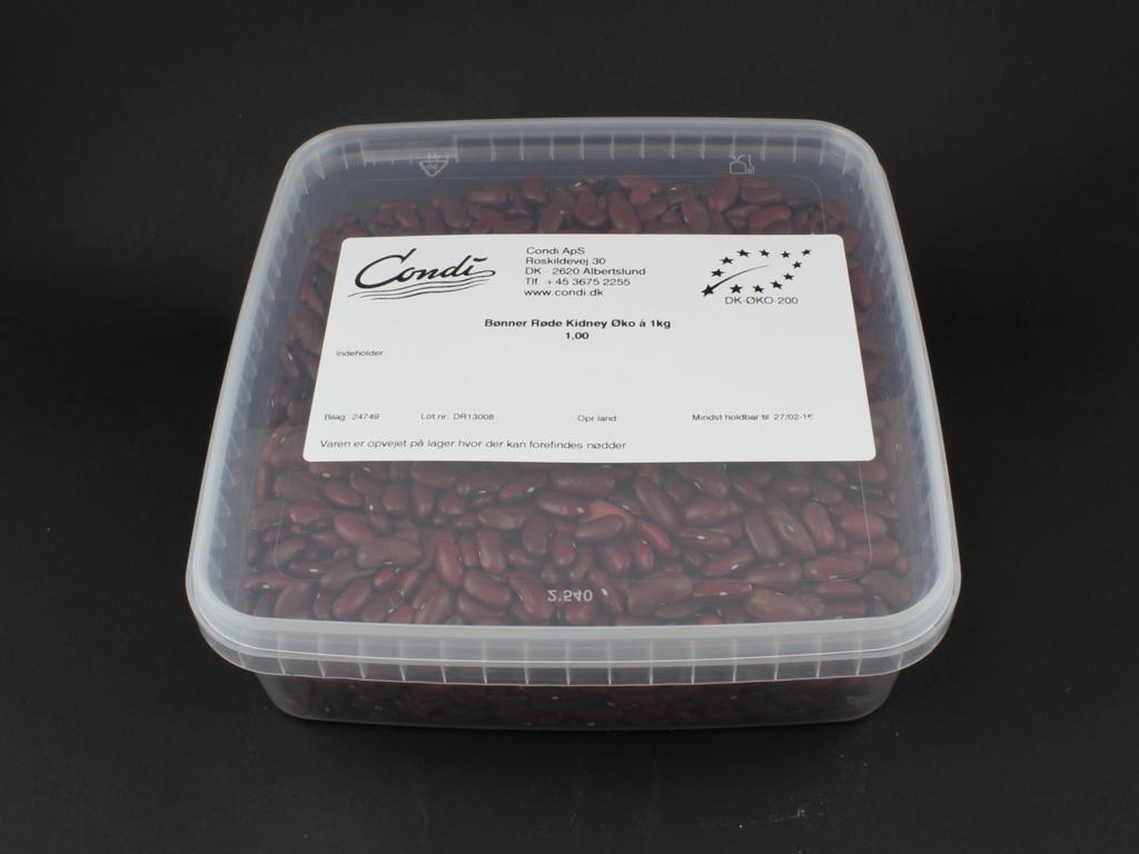 Røde Kidneybønner økologiske 1 kg