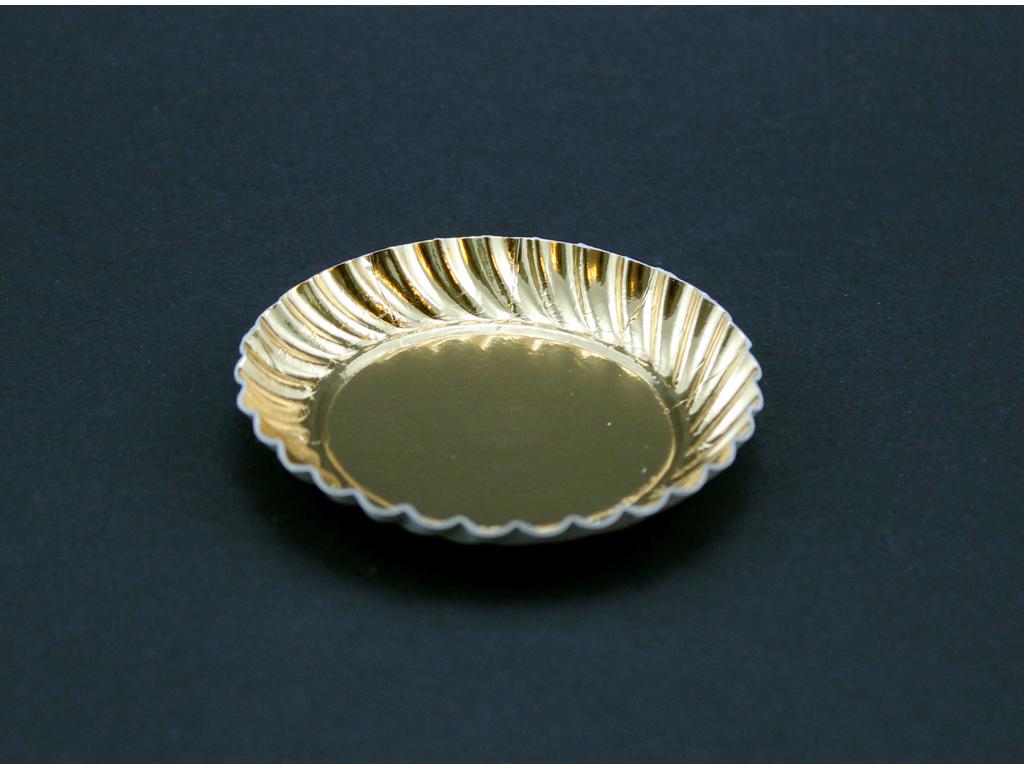 Petit Four assietter 59mm rund guld