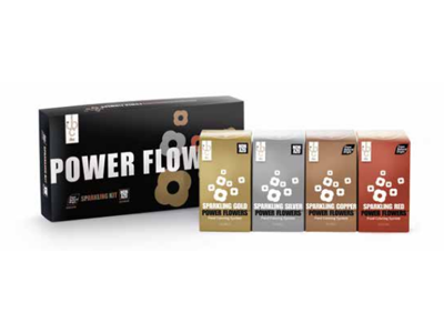 Power Flowers Sparkling Chokoladefarve sæt
