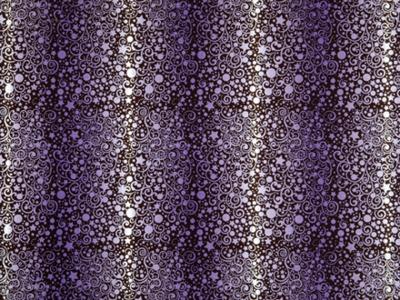 Chokoladefolie snirkler/stjerner lilla