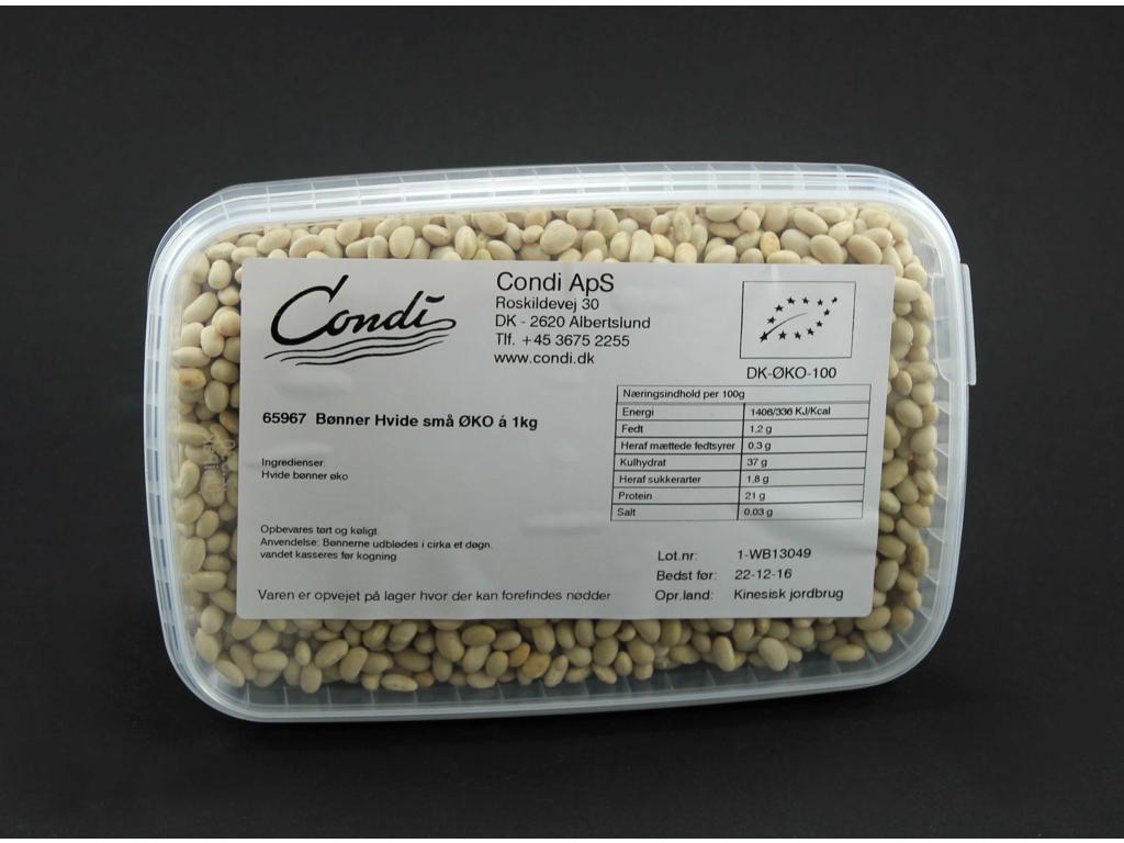 Små hvide bønner økologiske 1 kg