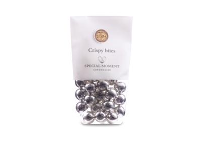 Drageret hvedekugler m/lys chokolade og sølv 110 gr - Bestillingsvare