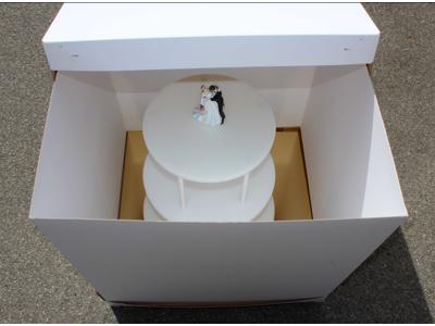H æske t/bryllups kager 604x604x610 mm