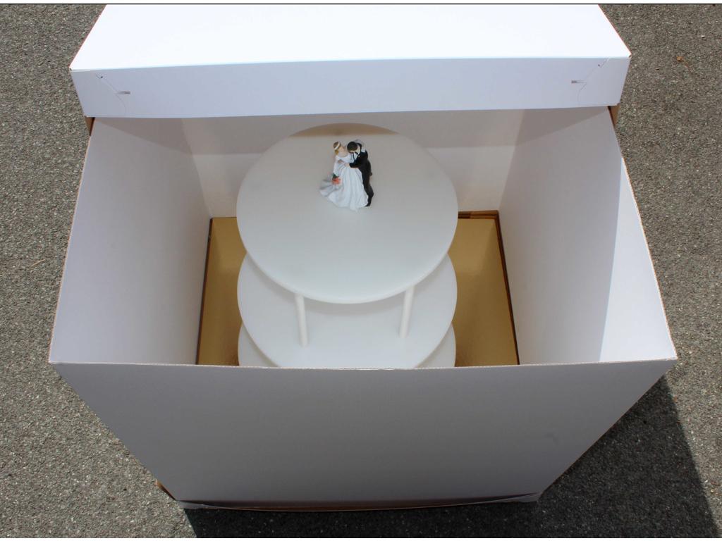 H æske t/bryllups kager 604x604x810 mm
