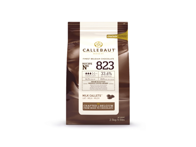 Callebaut lys Chokolade 823 2,5 kg