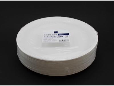 Paptallerken LP 18 hvid á 50 stk