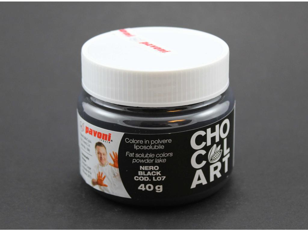 Farvepulver Sort 40 g fedtopløselig
