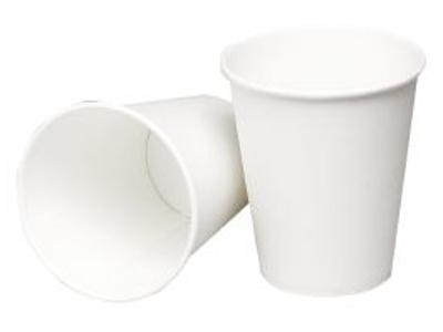 Kaffebæger pap 24cl. Hvid á 50 stk