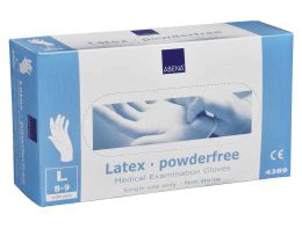 Latexhandsker u/pudder 100 stk L