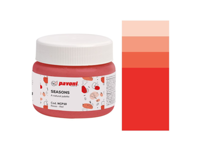 Farvepulver rød 80 g naturlig