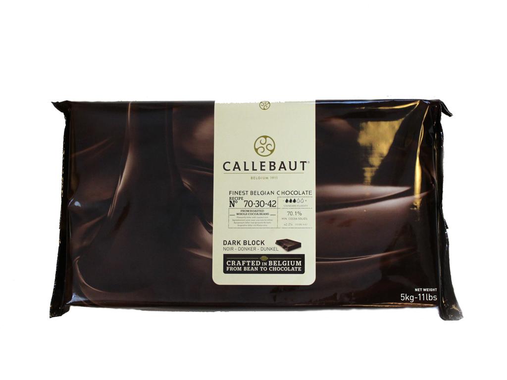 Mørk Chokolade 7030 i plade á 5 kg
