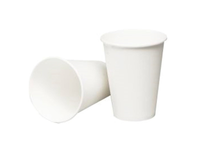 Kaffebæger pap 36cl hvid á 50 stk