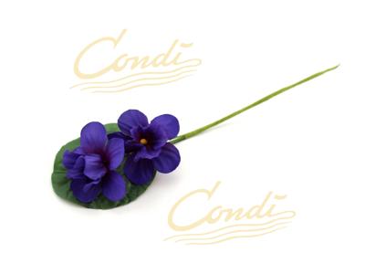 Dekoblomst viol 15cm 72 stk