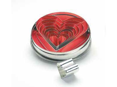 Udstikkersæt hjerteformet 8 stk
