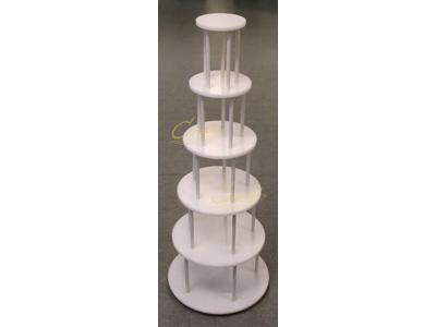 Bryllupskagestativ hvid nylon 6 etg