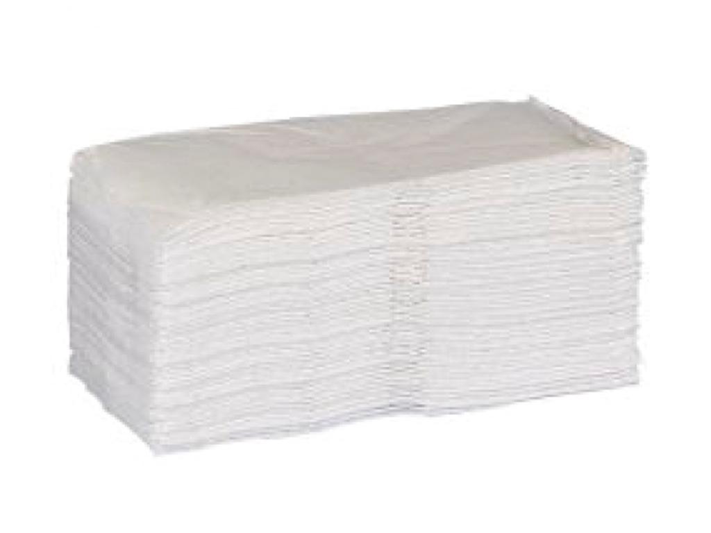 Serviet hvid 33cm 1/8 fals