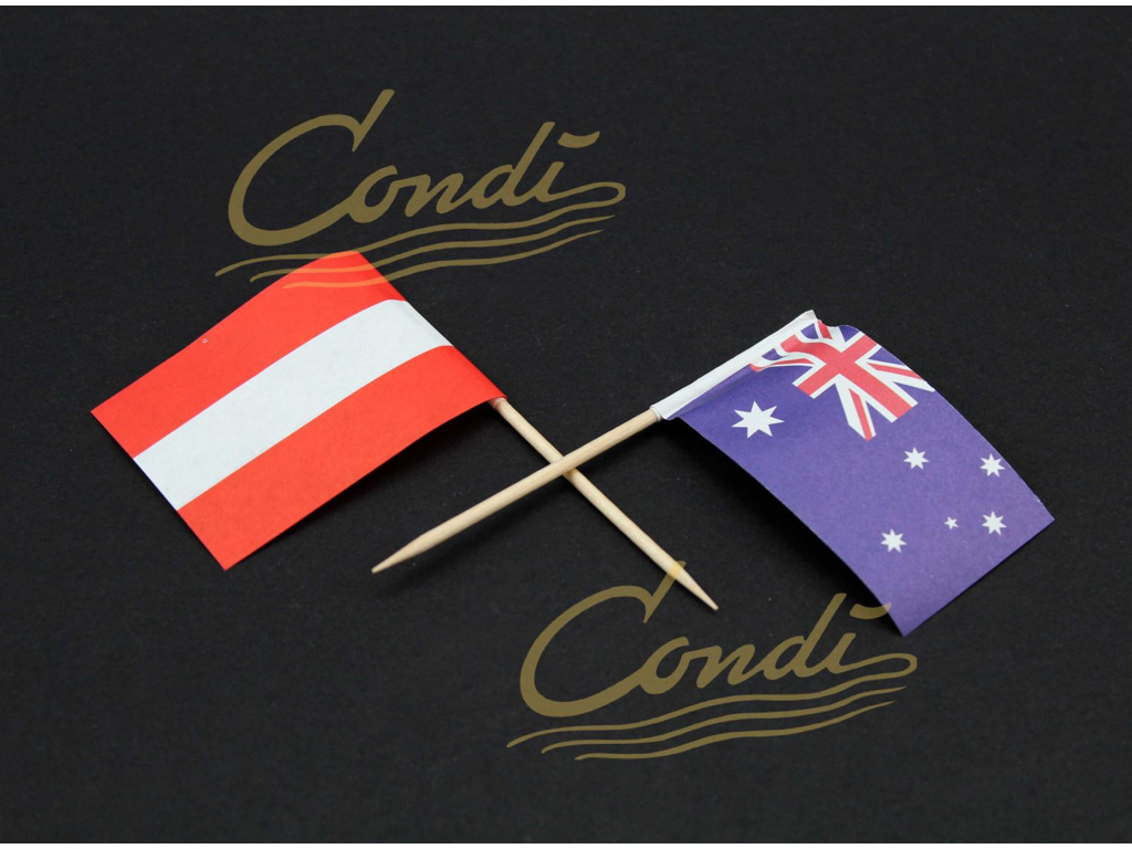 Flag udenlandske á 100 stk
