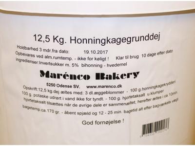 Honningkagedej á 12,50 kg