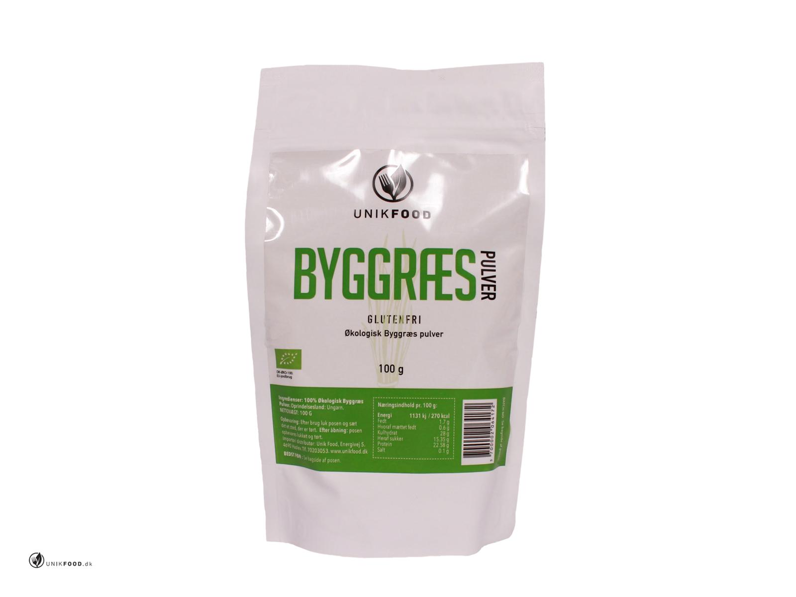 RESTSALG Byggræs pulver økologisk 100 gr