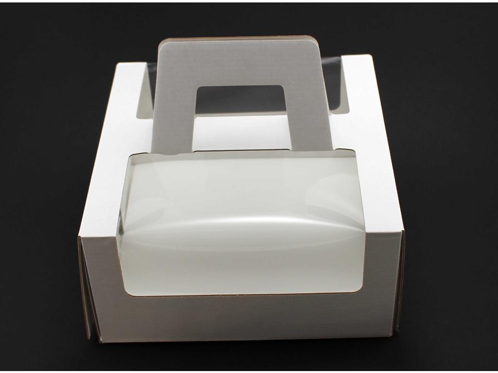 Lagkageæske m/håndtag 30x30x12 cm