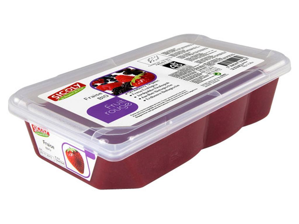 Frugtpuré Jordbær Økologisk