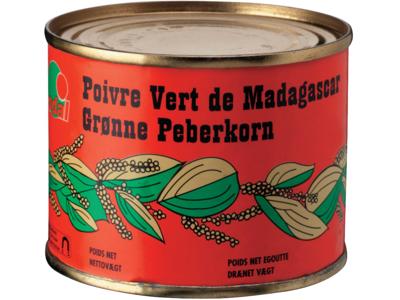 Peberkorn grøn Madagascar á 200 gr