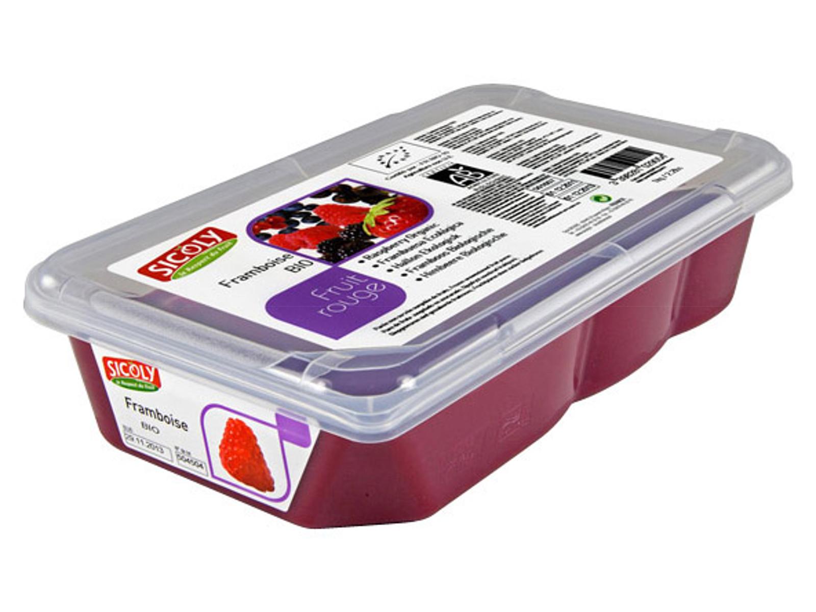 Frugtpuré Hindbær Økologisk