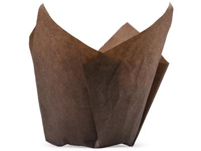 Muffinskapsel Blomst brun 50x60/95mm