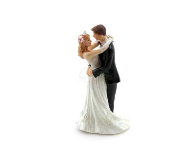 Brudepar kagefigur 12,7cm