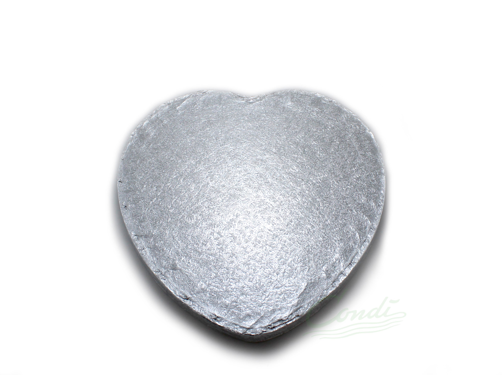 Bryllupskageunderlag hjerte 26 cm
