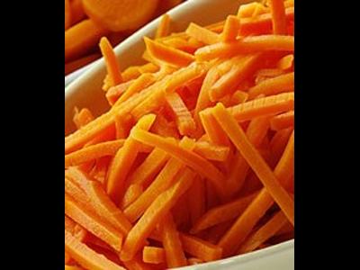 Frosne Gulerødder i strimler 2,5 kg