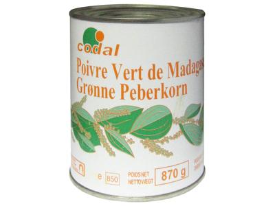 Peberkorn grøn Madagascar á 870 gr