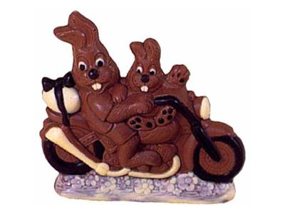 RESTSALG Chokoladeform Hare/motorcykel