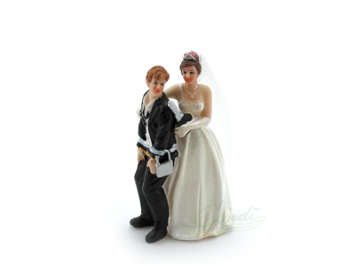 Brudepar kagefigur m/hængelås