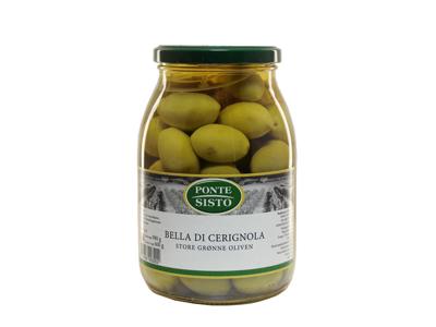 Oliven Bella Cerignola m/sten grøn 980 gr