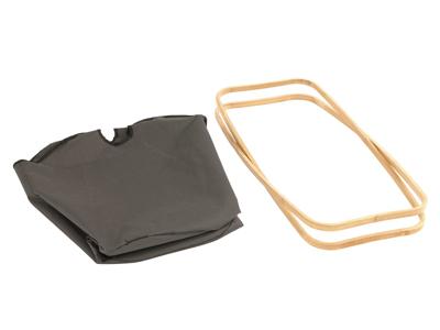 Outwell Padres Laundry Basket - Foldbar Vaskekurv - Grå/Brun