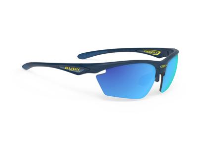 Rudy Project Stratofly - Løpe- og sykkelbriller - Multilaser blå linser - Mattblå
