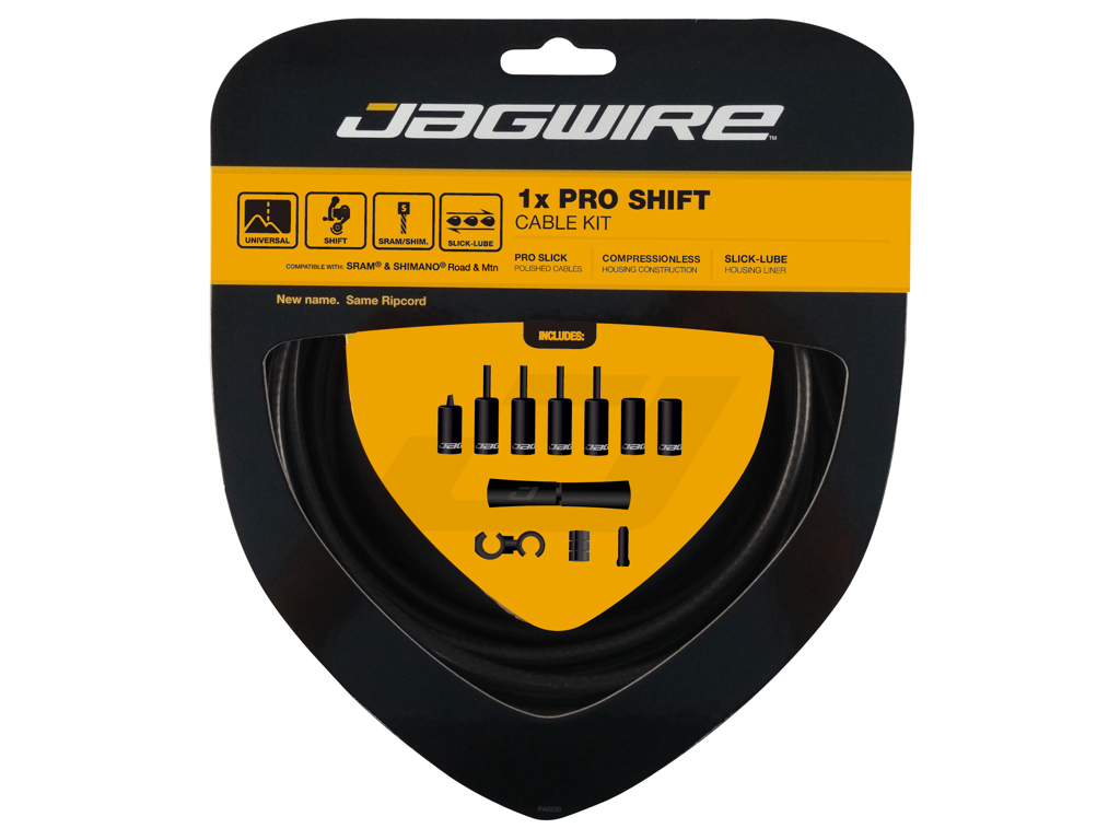 Image of   Jagwire - Pro Shift - 1x Gearkabel sæt - Road/MTB - Mat sort