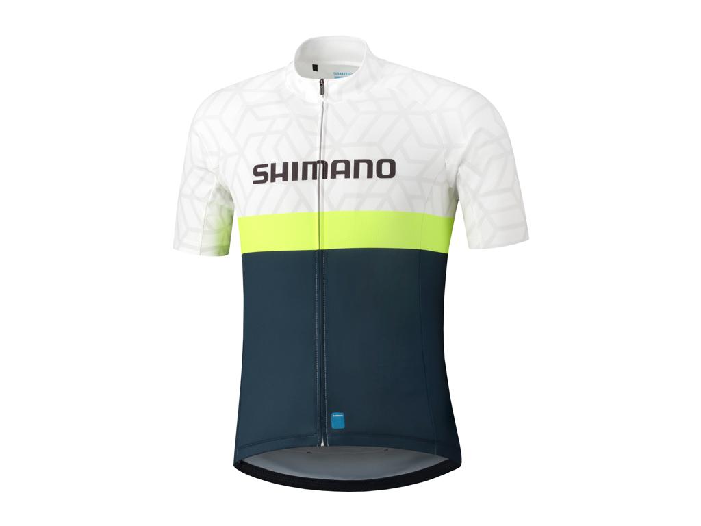 Shimano Team - Cykeltrøje med korte ærmer - Hvid/Blå - Str. 2XL thumbnail