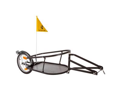 M-Wave Stalwart Single 40 - Cykeltrailer - Ethjulet - Max vægt 27 kg - Sort